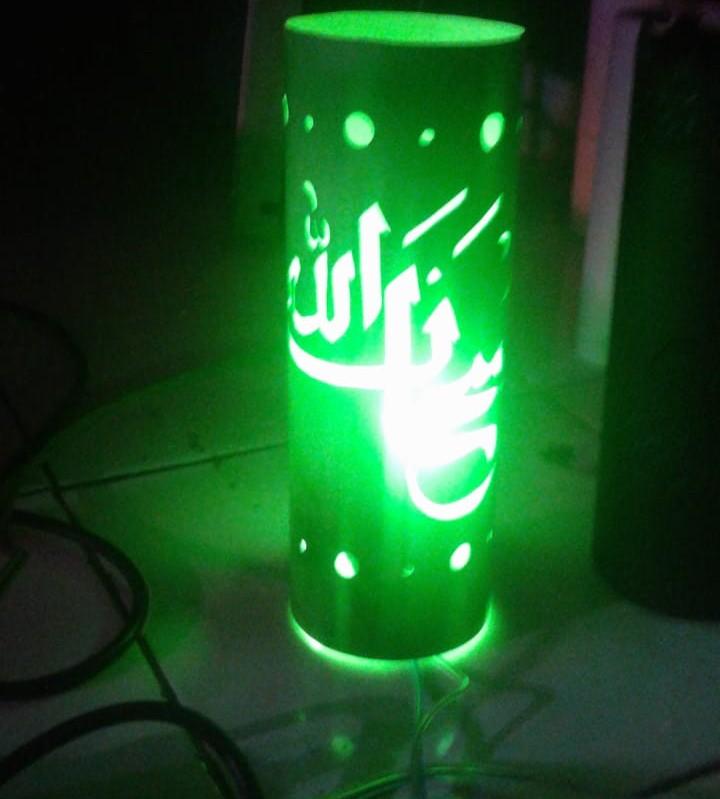 Lampu Hias Paralon Kaligrafi