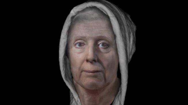 Rekonstruksi wajah Lilias Adie - (University of Dundee.jpg/suara.com)
