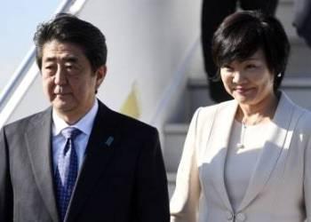 Istri PM Jepang Shinzo Abe bersama istri, Akie (Foto : Line Today)