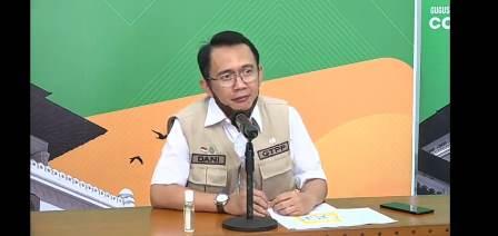 Dani Ramdhan saat melakukan video conference di Gedung Sate Foto: Ardian/dara.co.id)