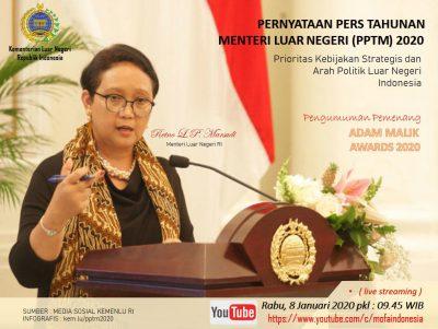 Menteri Luar Negeri Retno Marsudi (Foto : Kemenlu.go.id))
