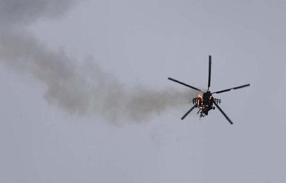 Ilustrasi Kecelakaan Helikopter. (Foto: AP Photo/Ghaith Alsayed)