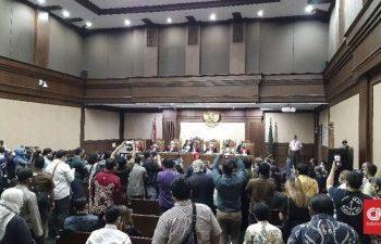 Suasana Sidang Dugaan korupsi PT Jiwasraya (Foto : CNNIndonesia)