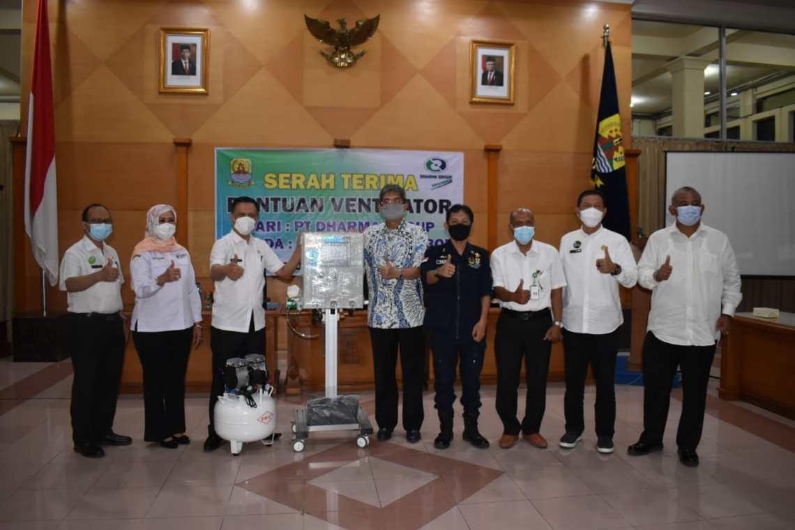 Pemerintah Kabupaten Cirebon, mendapatkan bantuan empat buah ventilator dari PT Dharma Group (Foto: bambang Setiawan/dara.co.id)