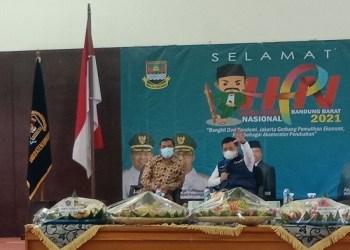Bupati Bandung Barat Aa Umbara berpesan pada Hari Pers Nasional 2021 (Foto: Heni Suhaeni/dara.co.id)