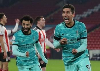 Liverpool akhirnya bisa menang, setelah 4 kali beruntun kalah dalam lanjutan Liga Premier Inggris pada Senin (01/03/2021) dini hari WIB.  Mo Salah dkk menaklukan tuan rumah Sheffield United.(Foto : Okezone)
