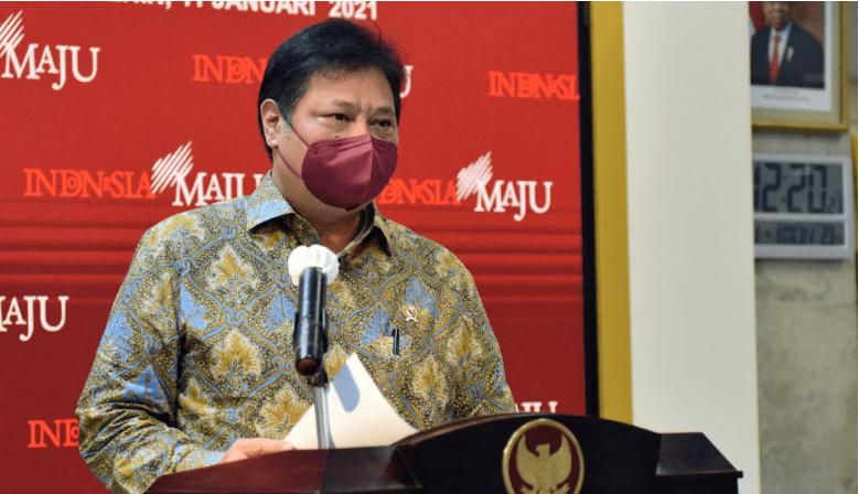 Ketua KPCPEN Airlangga Hartarto. (Foto: Dokumentasi Humas Setkab)