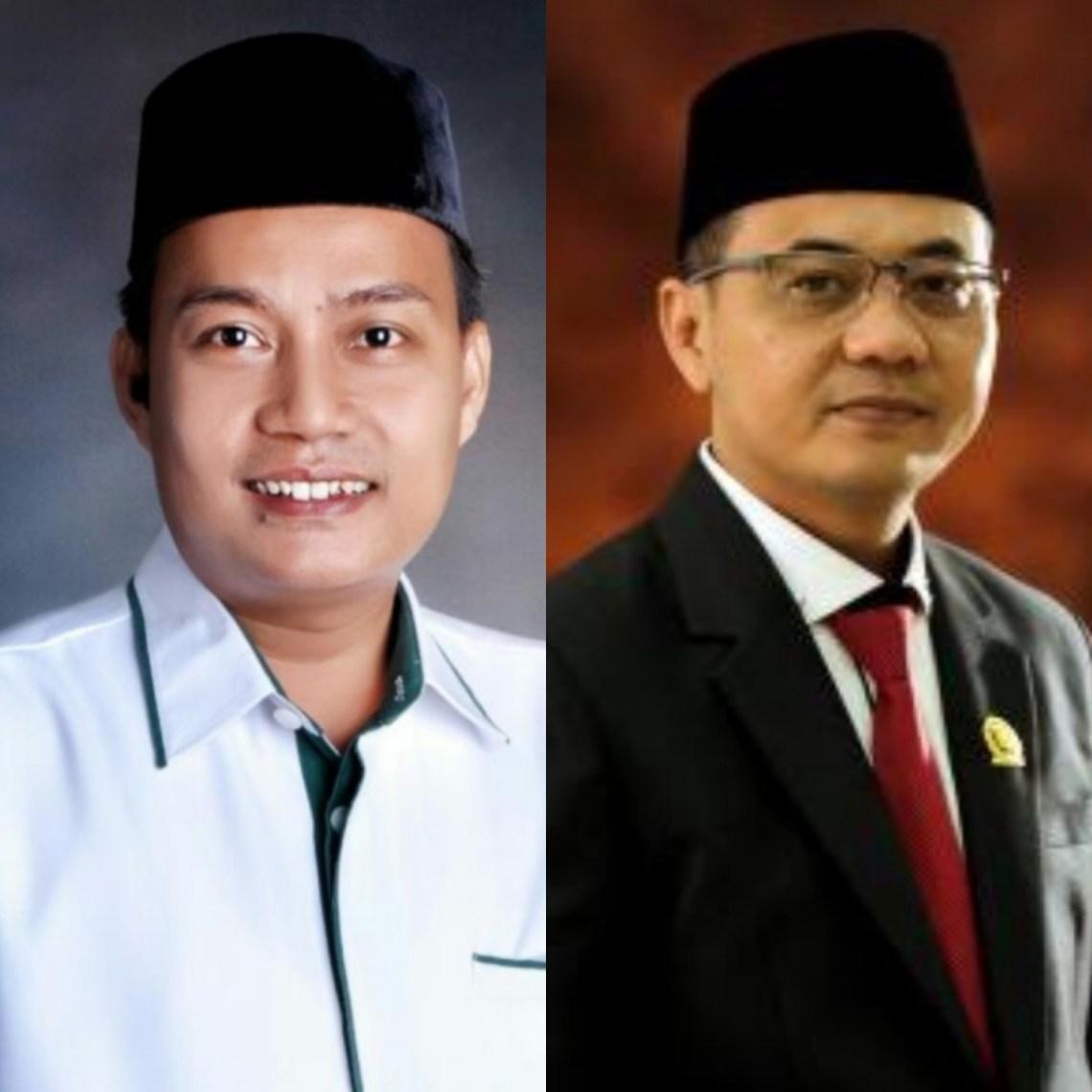 Ketua Fraksi PKB, Jejeng Zaenal Mutaqien dan Sekretaris Fraksi Gerindra, Deni Daelani (foto : Istimewa)