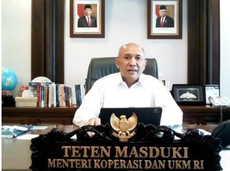 Menteri Koperasi dan UKM Teten Masduki. (Foto:Dara/Kemenkop UKM)