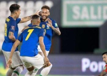 Brasil menang berkat gol yang dicetak Neymar pada menit ke-4 dan Lucas Paqueta pada menit 90+3. (Foto : Yahoo Berita)