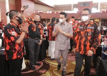 Wakil Bupati Sahrul Gunawan menghadiri Musyawarah Cabang Luar Biasa (Muscablub) PP Kabupaten Bandung, di Hotel Sutan Raja, Soreang, Senin (28/6/2021). Acara dibuka Bupati Bandung Dadang Supriatna. (Foto : Humas Pemkab Bandung)