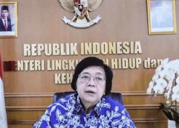Menteri LHK Siti Nurbaya memberikan keterangan pers, usai mengikuti Rapat Terbatas, Rabu (28/07/2021). (Foto: Humas Setkab/Agung)