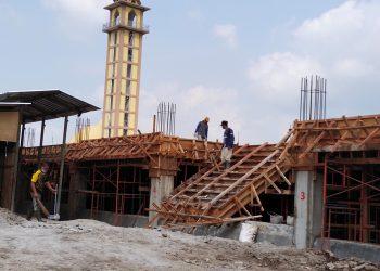 Pembangunan Pasar Tagog Padalarang, pada saat kondisi awal (Foto: heni/dara.co.id)