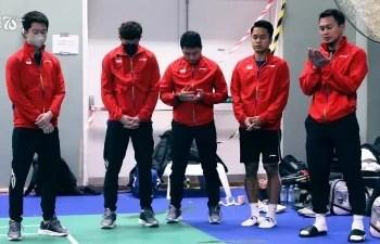 Indonesia akan menghadapi Cina pada final Piala Thomas 2020. Duel klasik pertandingan bulu tangkis ini akan berlangsung di Ceres Arena, Aarhus, Minggu (17/10/2021), pukul 18.00 WIB. (Foto: twitter)