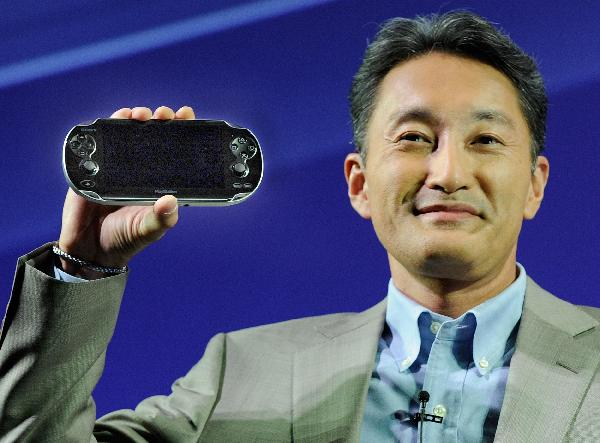 Kazuo_Hirai_with_Playstation_Vita