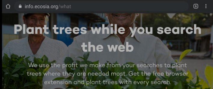 محرك بحث Ecosia