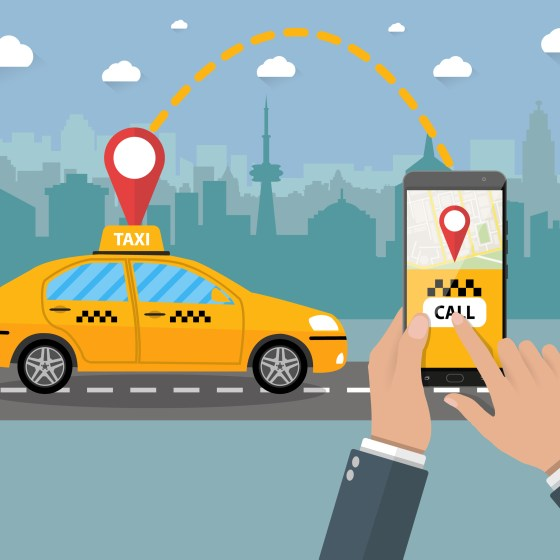 Taxi app in Brasil