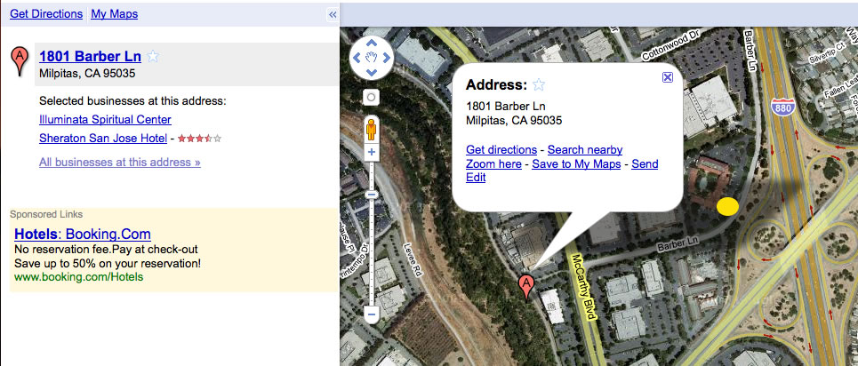 Google Maps Error - 1801 Barber Ln, Milpitas, CA, 95035