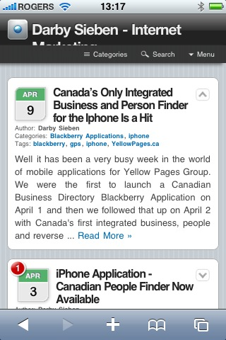Darby Sieben iPhone Article Expanded