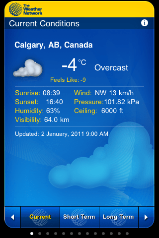 The Weather Network - iPhone Application