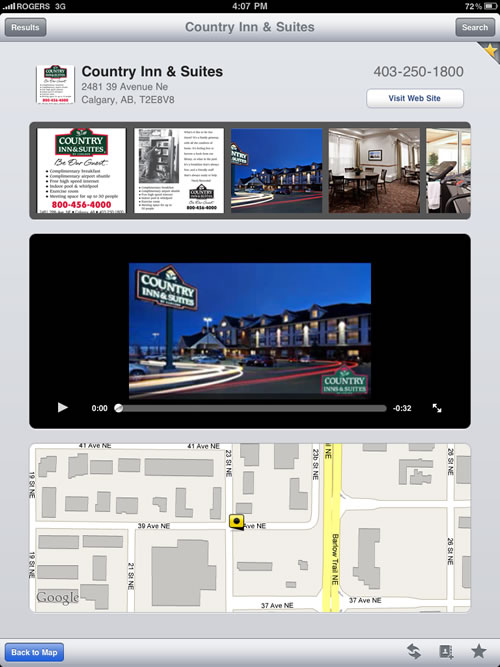 iPad Application Enhanced Business Content