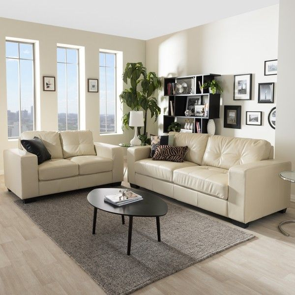 Cream Leather Couch Living Room Ideas