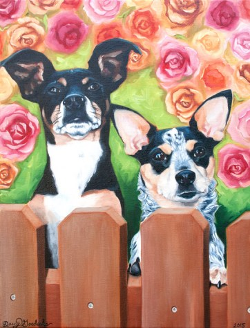 "Oils - ""Roxie and Macee"""