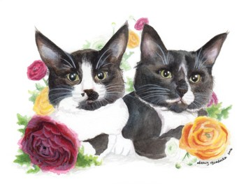 """Watercolor - """"Sophie and Wendy"""""""