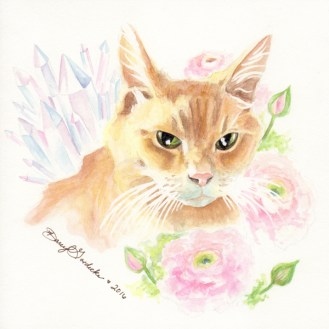 "Custom PortraitWatercolor on Paper 7 x 7""2016"