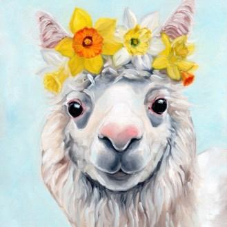 Daffodil Alpaca | Oil Painting by Darcy Goedecke