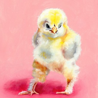 Nasty Chick - Oil on Panel by Darcy Goedecke