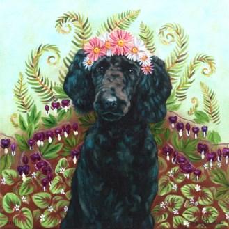 "Custom Pet Portrait Oil on Canvas 16 x 16 x 1 3/8"""