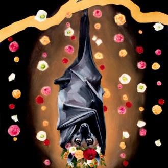 Batty Koda | Oil Painting on Panel by Darcy Goedecke