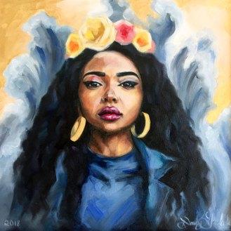 Indigo - Oil Painting by Darcy Goedecke