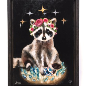 Trash Panda | Oil painting by Darcy Goedecke