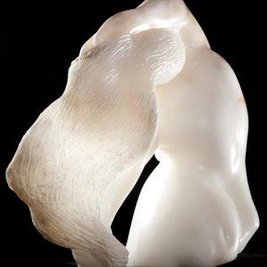 Stone sculpture by Darcy, Dancer Italian white alabaster