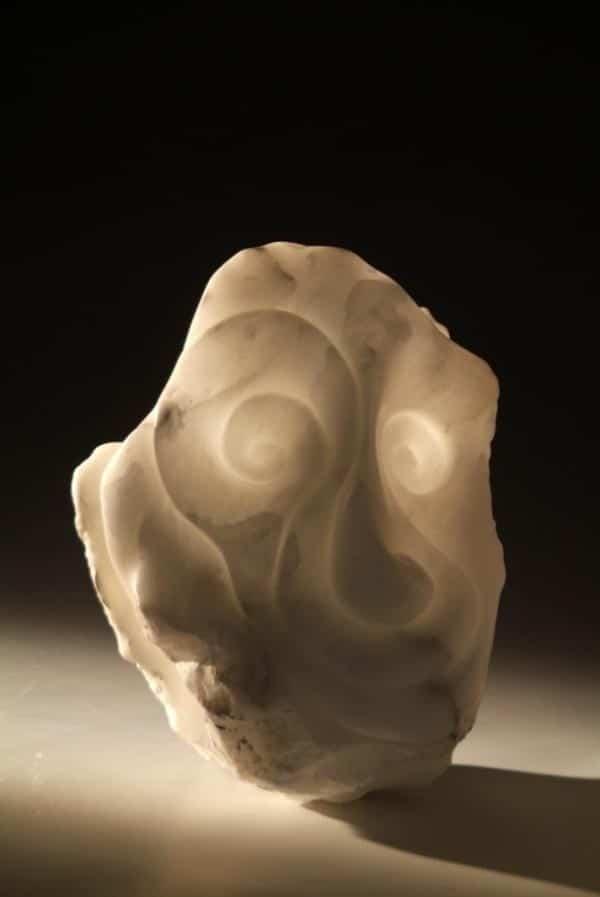 Wiz Italian white alabaster stone sculpture