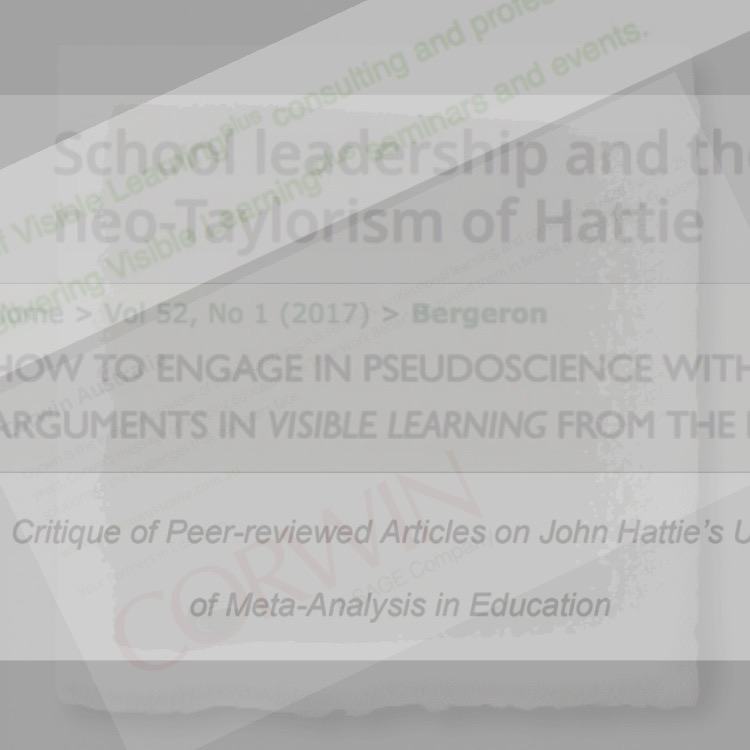 The Cult Of Hattie Wilful Blindness Darcy Moore S Blog