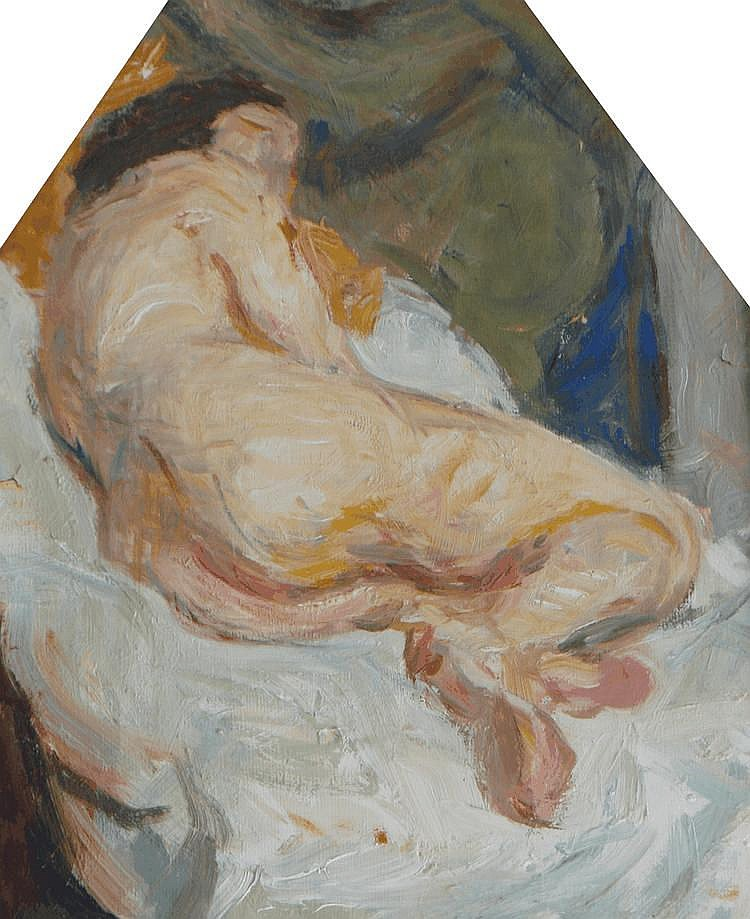 Study of a female nude by Edith F Morgan