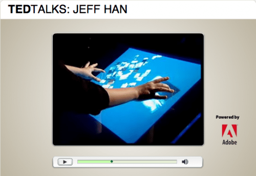 Jeff Han demos his Tactile Interface