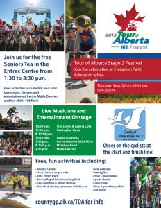 Tour of Alberta Festival Flyer