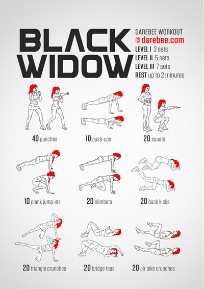 Black Widow Workout