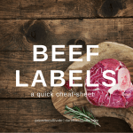 Beef Labels - A Quick Cheat Sheet