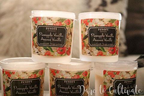 DIY Bridesmaid Box Pineapple Vanilla Candle