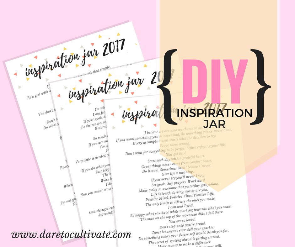 DIY Inspiration Jar 2017