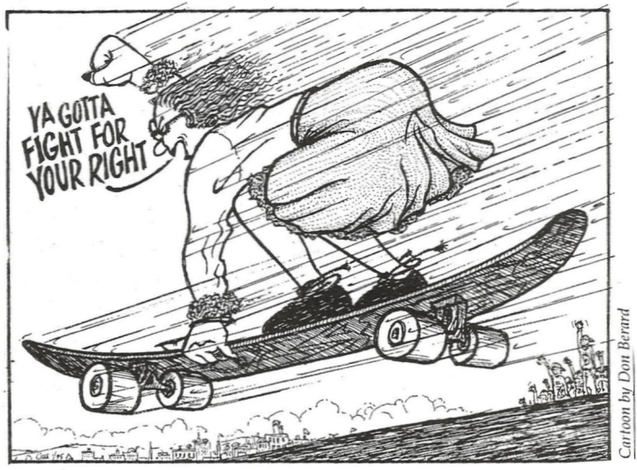Skateboard Cartoon From C'ville