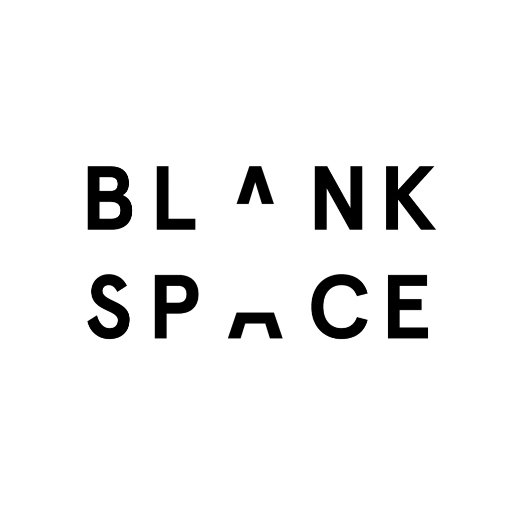 "An image of the words ""blank space"" with ""blank"" directly above ""space"". The A is shared between the words and split to create a space in the middle of the words."