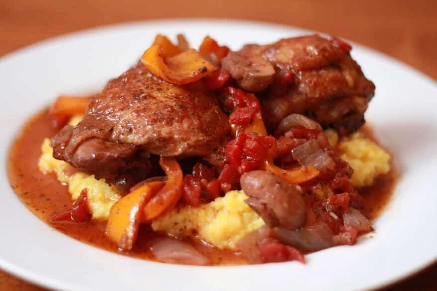 Chicken Cacciatore with Polenta