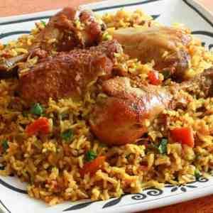 Chicken Machboos Bahraini spiced rice authentic traditional Bahrain recipe