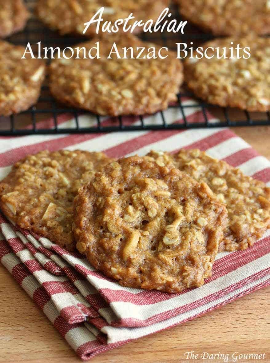 Australian anzac cookies recipe no eggs eggless almonds